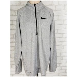 Nike Gray 3/4 Zip Pullover Sweatshirt Adult M